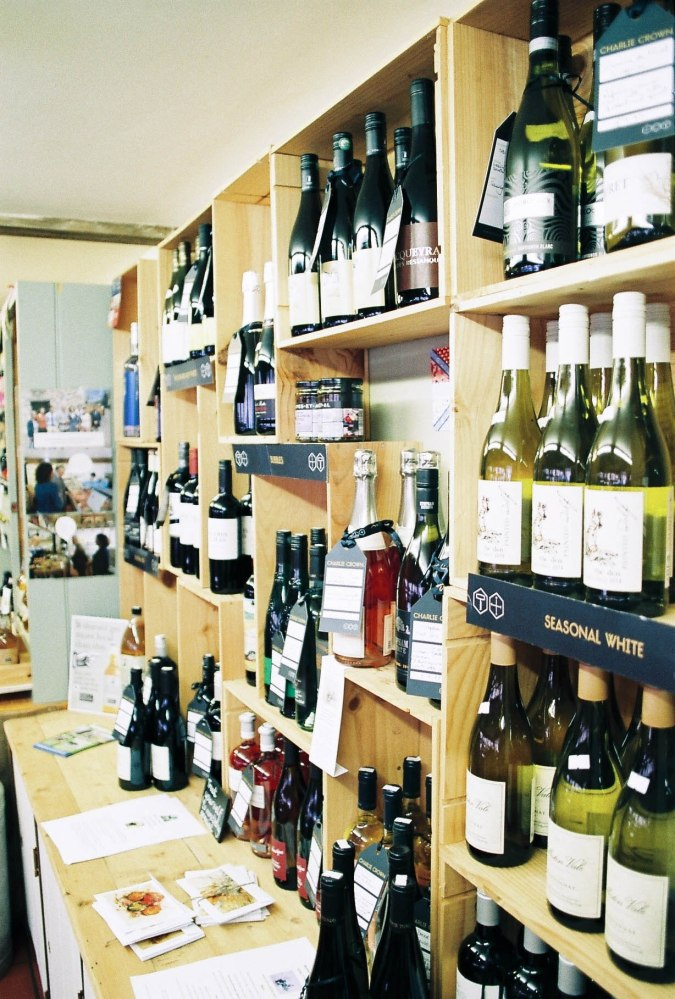 The shop has an extensive stock of local and organic wines and ciders.